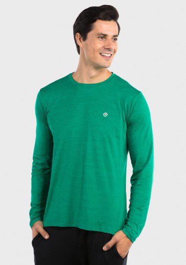camisa uv mescla colors com protecao solar extreme uv verde lateral c