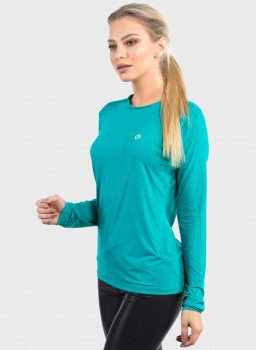 camisa uv ice 3d com protecao solar extreme uv feminina lateral verde c