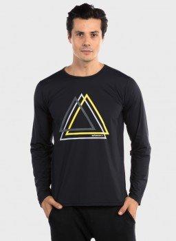camisa uv masculina manga longa com protecao solar estampa triangulo extreme uv ice c