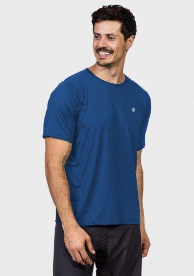 camisa uv masculina new dry protecao solar raglan manga curta extreme uv azul latera cl