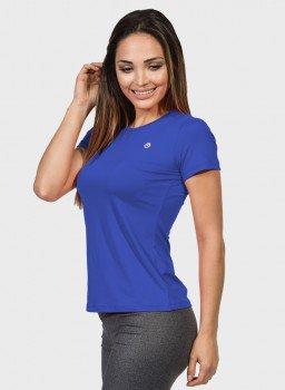 camisa uv feminina new dry com protecao solar manga curta extreme uv azul latera cl