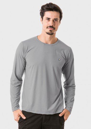 t shirt masculina new dry manga longa extreme uv cinza f c