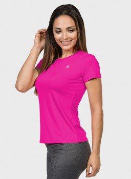 camisa uv feminina new dry com protecao solar manga curta extreme uv pink lateral c