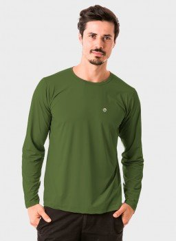 masculina t shirt longa ice verde militar frente c n