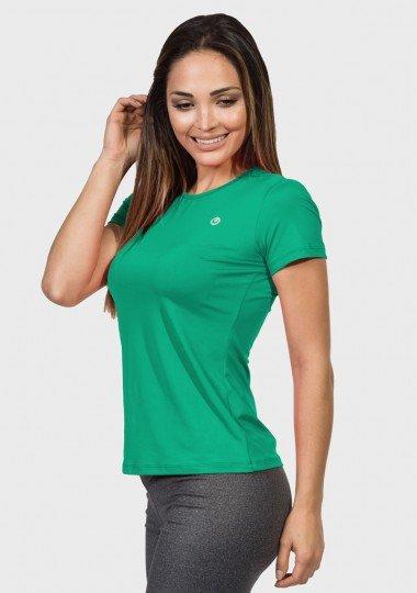 camisa uv feminina nd com protecao solar manga curta extreme uv verde agua frente c
