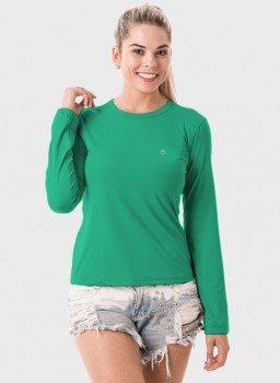 feminia t shirt longa nd verde agua frente c