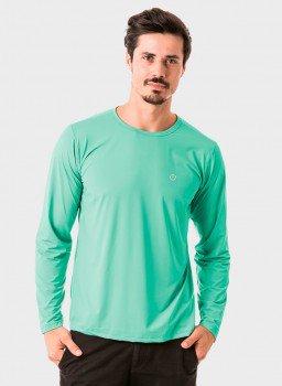 masculina t shirt longa nd verde menta frente c