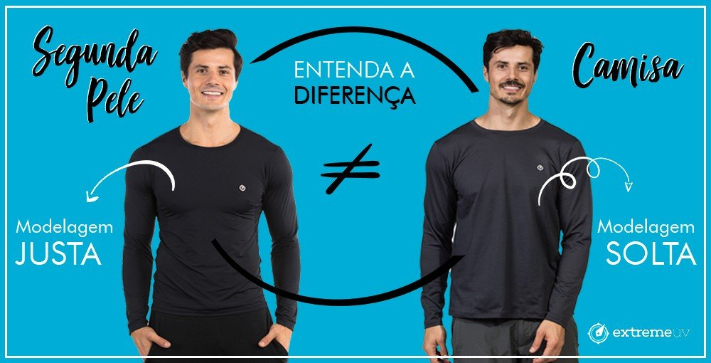banner pag especial diferenca camisa normal camisa segunda pele