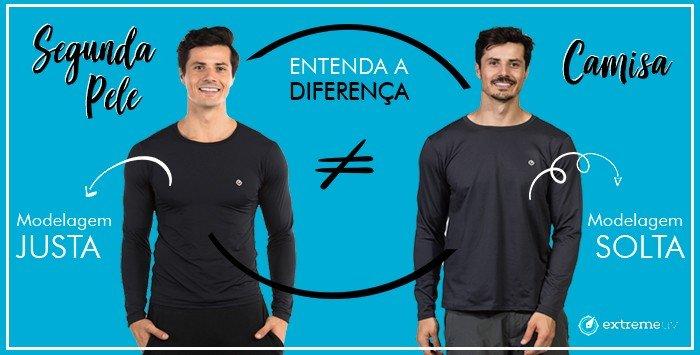 banner pag especial diferenca camisa normal camisa segunda pele menor