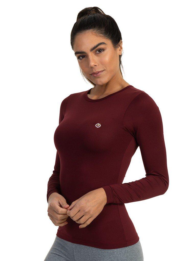 camisa segunda pele termica com protecao solar extreme uv feminina bordo l b