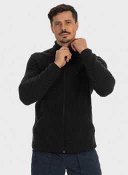 casaco sherpa felpudo masculino extreme uv ziper cinza