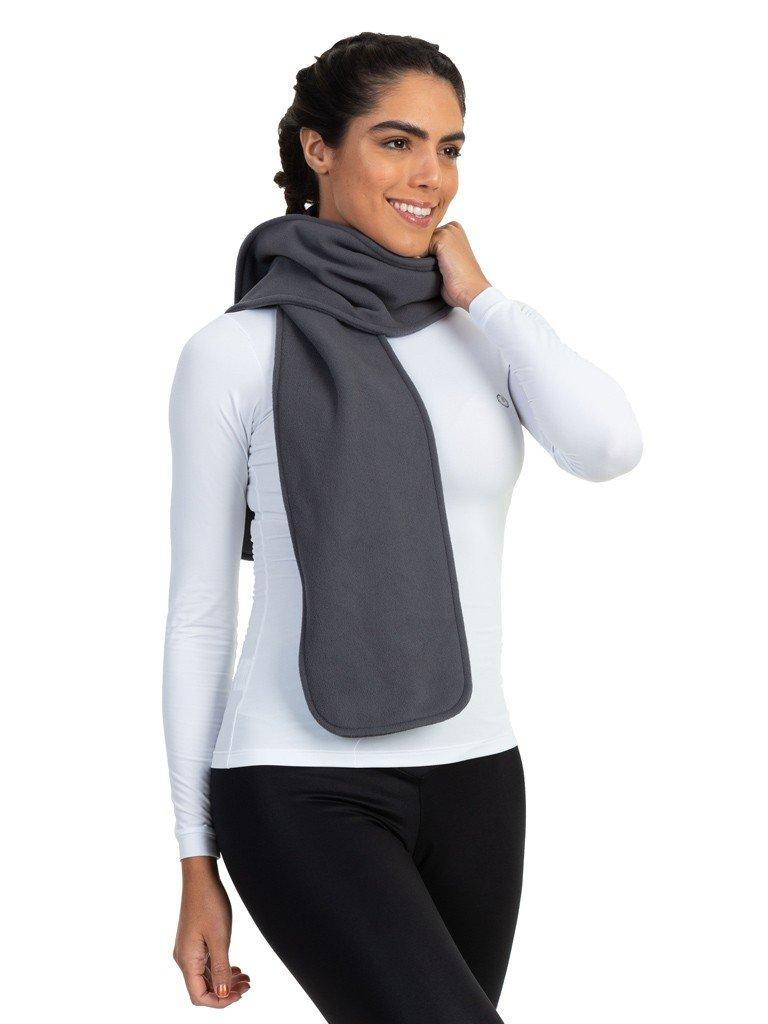 cachecol fleece femino extreme uv cinza b