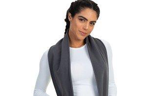cachecol feminino fleece com bolso extreme uv quadro um