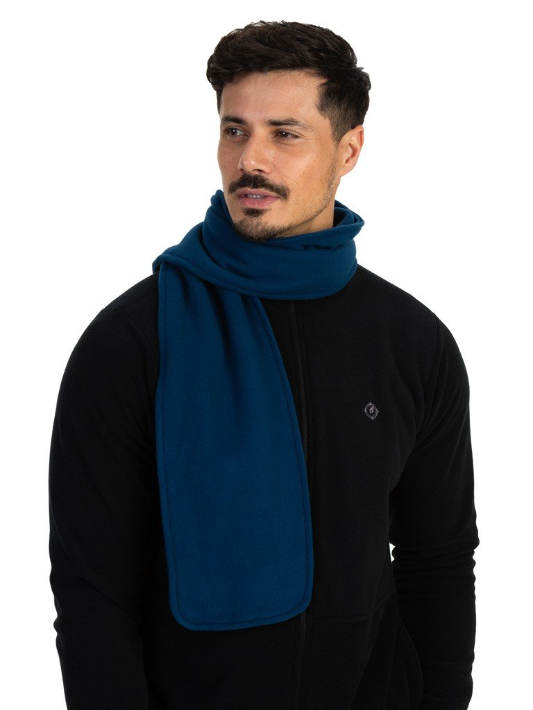 cachecol fleece masculino extreme uv azul b
