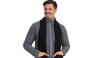 cachecol fleece com bolso masculino extreme uv azul quadro 1
