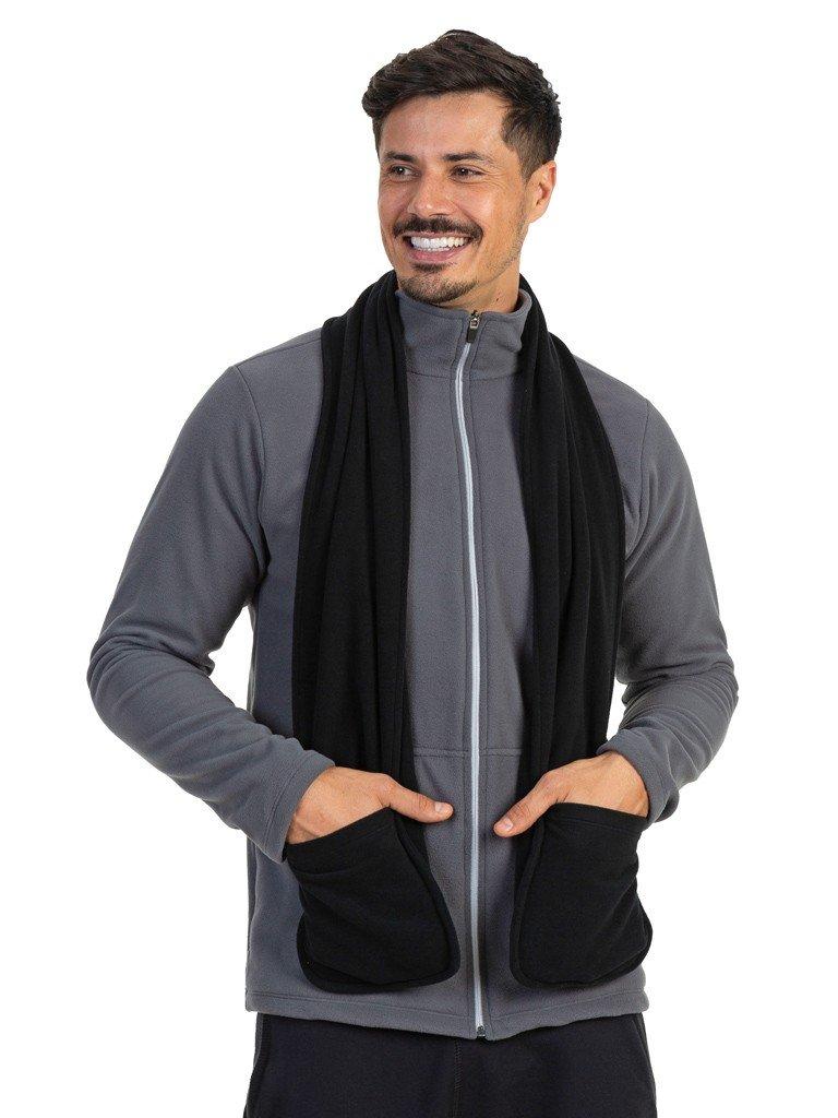 cachecol fleece com bolso masculino extreme uv preto b