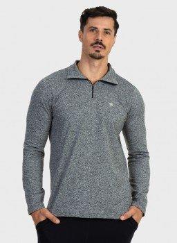 camisa termica mescla masculina gola alta com protecao solar extreme uv mescla frente c