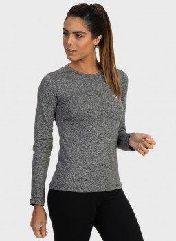 feminina t shirt longa thermo mescla frente c