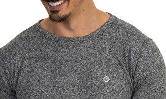 detalhe mescla camiseta masculina térmica