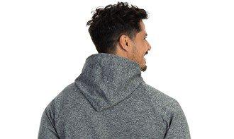 detalhe capuz jaqueta térmica masculina mescla