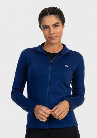 jaqueta termica para frio feminina extreme uv azul frente c