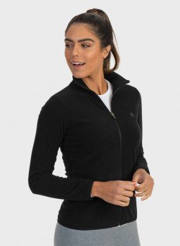 casaco fleece feminino sem bolso extreme uv preto lateral c