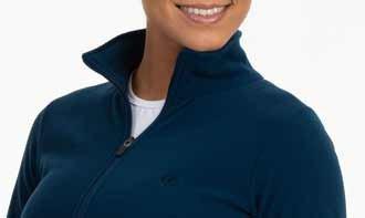 detalhe do casaco soft fleece feminino