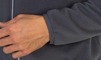 detalhe casaco fleece masculino