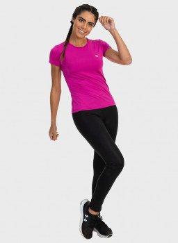 camisa uv feminina new dry com protecao solar manga curta extreme uv pink frente c
