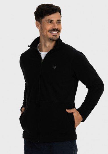 casaco masculino fleece preto lateral c n