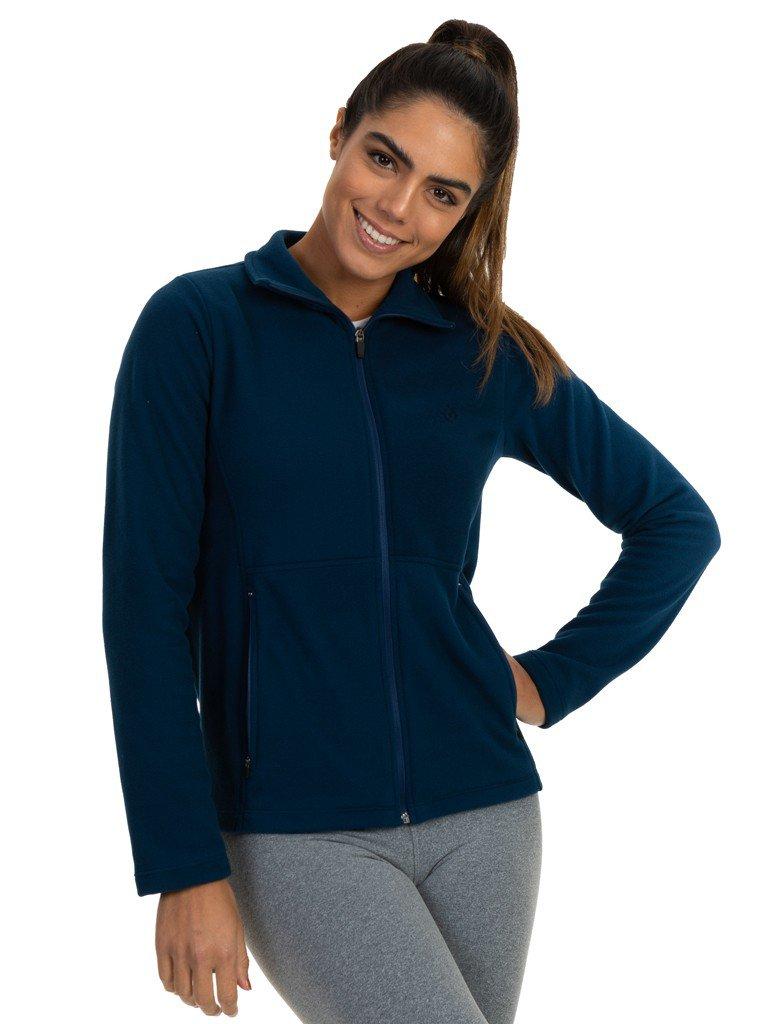 casaco feminino fleece frente azul b
