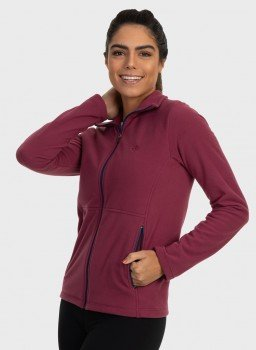 casaco feminino fleece frente bordo c