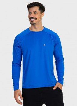 camisa masculina new dry raglan com protecao solar manga longa extreme uv azul lateral c