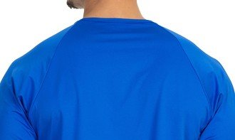 camisa masculina raglan gola redonda longa dry azul