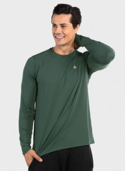 camisa uv ice 3d com protecao solar extreme uv verde lateral c