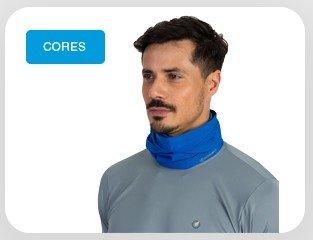 Protetor de Pescoço Azul Extreme UV
