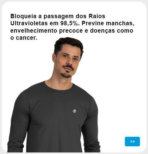 Camisa bloqueia raios ultravioleta