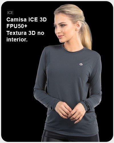Camisa ICE 3D FPU50+ Textura 3D no interior
