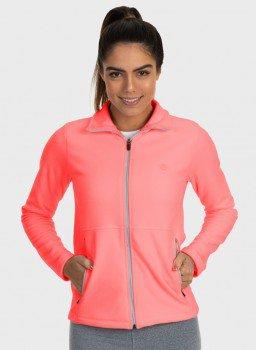 casaco feminino fleece lateral pessego c
